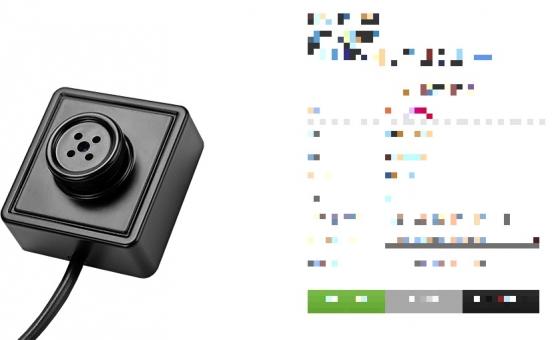 한 사이트에서 판매 중인 단추형 초소형 카메라./사진=해당 사이트 화면 캡쳐