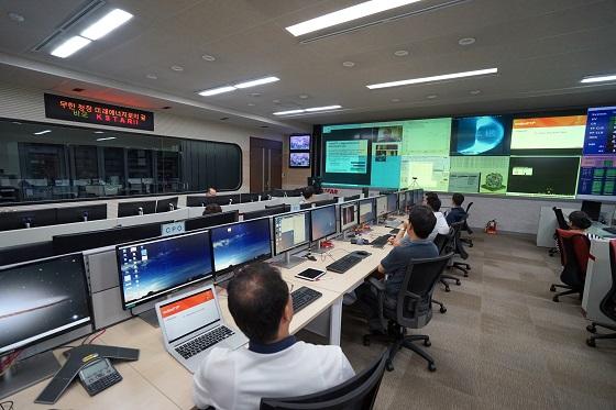 한-미 데이터 전송 네트워크 시연이 진행된 핵융합(연) KSTAR 제어실 전경/사진=핵융합연