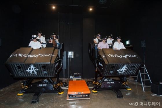 '몬스터 VR'은 정글존, 시네마 VR존, 큐브 VR존, 익스트림 VR존 등 총 4개의 테마존에서 40여 개 콘텐츠를 제공한다. /사진=한국콘텐츠진흥원