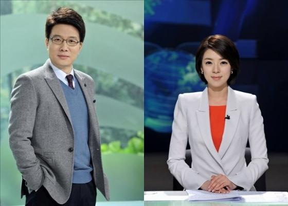 MBC 신동호(왼쪽), 배현진 아나운서
