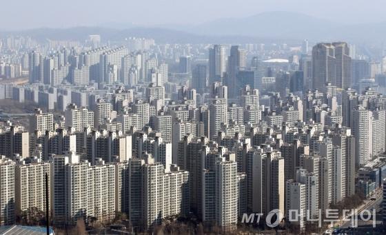 서울 강남지역 아파트 단지 전경. @머니투데이 DB.
