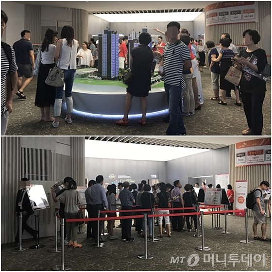서울 강남구 개포동 '공덕SK리더스뷰' 모델하우스가 방문객들로 북적이고 있다. /사진=신현우 기자
