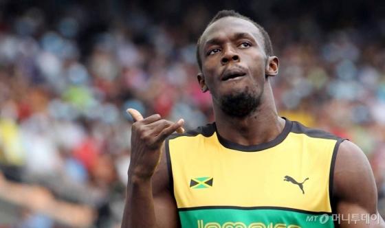 2011대구육상세계선수권대회에 참가중인 '번개' 우사인 볼트(자메이카)