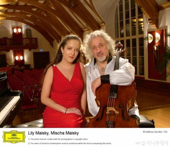 첼리스트 미샤 마이스키(오른쪽)와 딸 릴리 마이스키. /사진=크레디아