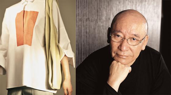 르베이지와 박서보 작가의 협업 상품(왼쪽)과 박서보 작가(오른쪽)/사진제공=삼성물산 패션부문