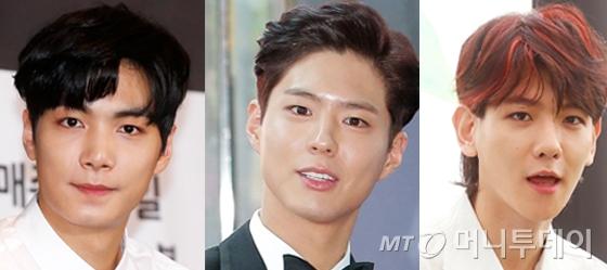 김종현, 박보검, 백현/사진=머니투데이DB