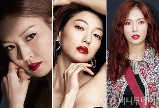 배우 김소연, 이엘, 가수 현아/사진=하이컷, 싱글즈, 머니투데이 DB