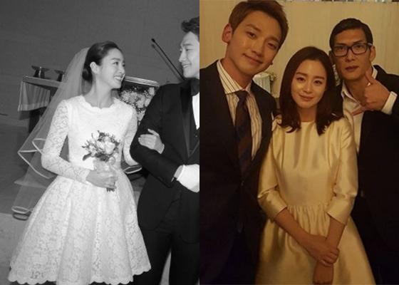 (왼쪽부터) 김태희 결혼식 사진, 가수 박준형이 공개한 비 김태희 결혼식 피로연 모습 /사진=레인 컴퍼니, 박준형 인스타그램