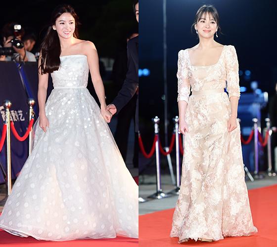 (왼쪽부터) 2016 백상예술대상, 2016 KBS 연기대상 레드카펫/사진=머니투데이 DB, 뉴스1
