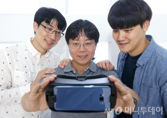 (왼쪽부터)삼성전자 C랩 '릴루미노' 개발팀 김용남 팀원, 조정훈 리더, 김승찬 팀원/사진=홍봉진 기자