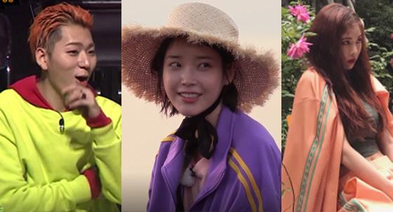 (왼쪽)지코, (가운데)아이유, (오른쪽)현아/사진=/사진=Mnet쇼미더머니6 캡처, JTBC 효리네 민박 캡처, 현아 인스타그램