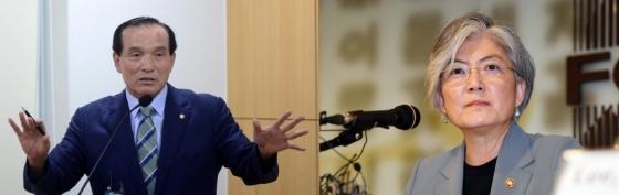 김중로 국민의당의원(왼쪽), 강경화 외교부장관/사진=뉴시스