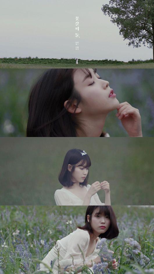 아이유 새 음반 '꽃갈피 둘' 티저영상 /사진=페이브엔터테인먼트