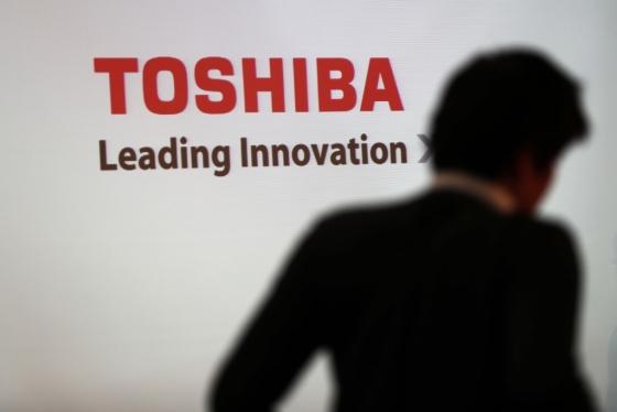 일본 도쿄의 도시바 본사에 걸린 도시바 로고. /AFPBBNews=뉴스1