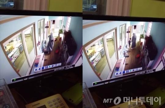 유치원 원장이자 수녀인 A씨가 3살 어린이를 폭행하는 장면 /사진=피해자 측 제공
