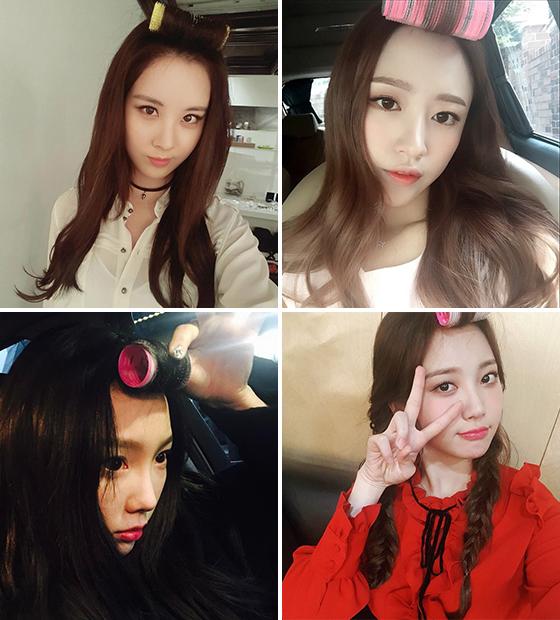/사진=소녀시대 서현·태연, 걸스데이 유라, EXID 하니 인스타그램(시계 반대 방향 순)