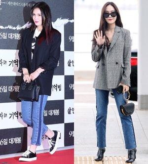 전소미 vs 제시카…패셔니스타의 청바지 패션 대결