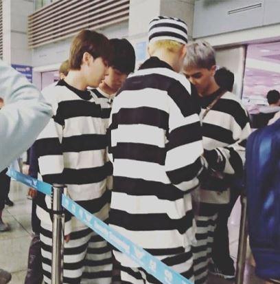 보이그룹 위너가 '꽃보다 청춘' 촬영을 위해 11일 인천국제공항을 통해 출국했다./사진=위너인스타그램팬페이지winner4hk