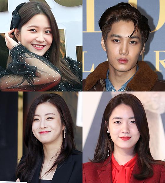 예리, 카이, 류화영, 강소라/사진=머니투데이DB, 뉴스1