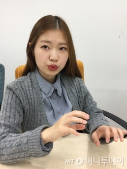김초엽씨. /사진=김고금평 기자<br />