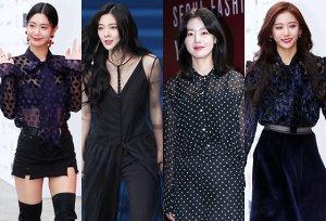 클라라·이선빈·한선화·유영, ★의 블랙 시스루 스타일링