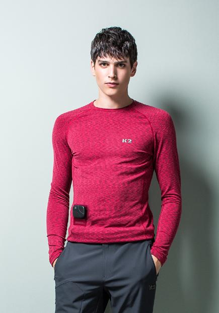 K2 스마트 발열 티셔츠 '인텔리전스 히트티'/사진제공=K2