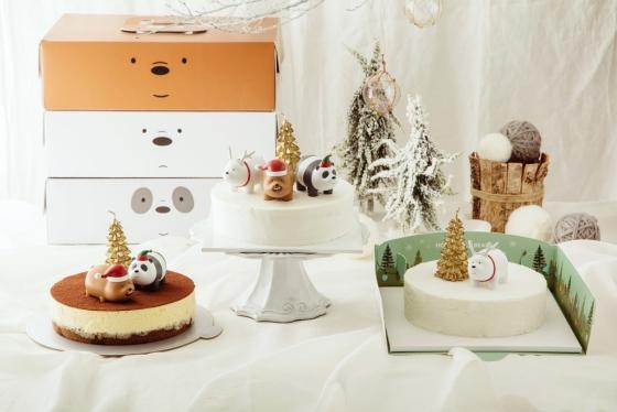 GS25에서 출시한 크리스마스 케이크 3종 /사진제공=GS25