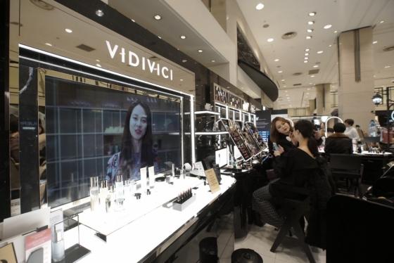 비디비치 신세계백화점 강남점 1층 매장 전경/사진제공=신세계인터내셔날