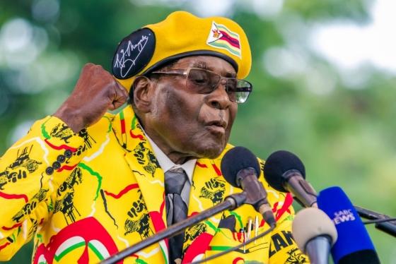 세계 최장수, 최고령 통치자인 아프리카 짐바브웨의 로버트 무가베 대통령. /AFPBBNews=뉴스1