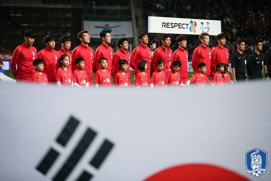 한국 축구대표팀이 A매치 홈경기 15경기 연속 무패를 기록했다. 역대 최장 기록 타이다. /사진=대한축구협회 제공<br /> <br />