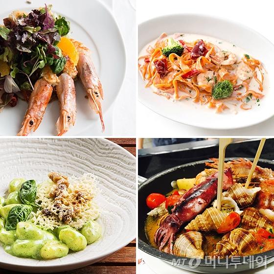 (시계방향) 아르모니움, 키친 485, 이탈리, 더 키친 살바토레 쿠오모/사진=각 레스토랑 인스타그램