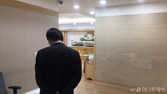 4일 오전 인천 중구 인하대병원 장례식장에 전날 발생한 '영흥도 낚싯배 침몰 사고'의 한 사망자 빈소가 차려져 있다. /사진=조문희 기자