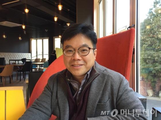 지난 11월 서울 강남 한 카페서 만난 김종율 보보스 부동산연구소 대표/사진=배규민 기자