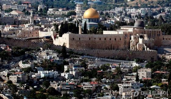유대교, 기독교, 이슬람교 등 3개 종교의 성지인 예루살렘의 모습.