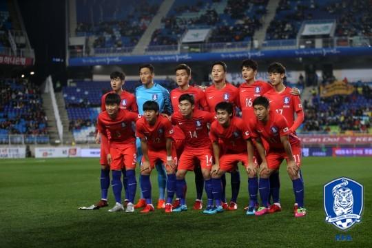 지난 11월 10일 콜롬비아전 당시 한국 대표팀 모습 /사진=대한축구협회 제공<br /> <br />