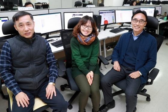 에버영피플에 근무하는 (좌측부터) 이원호 매니저, 김혜숙 매니저, 구광서 매니저 /사진=임성균 기자