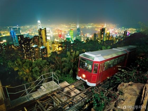 홍콩의 명물 '피크 트램'. /사진제공=홍콩관광청