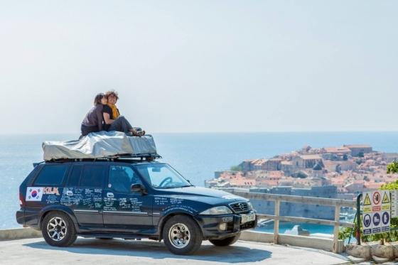 김병준씨와 나누리씨의 여행 모습 /사진제공=김병준 포토그래퍼