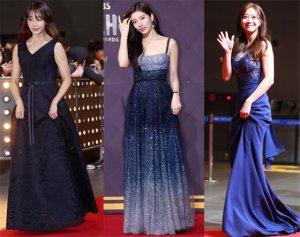 수지·조보아·정유미…시상식 드레스 '컬러'는?
