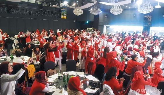 지난해 2월 방한한 인도네시아 인센티브 단체 모습. /사진=한국관광공사