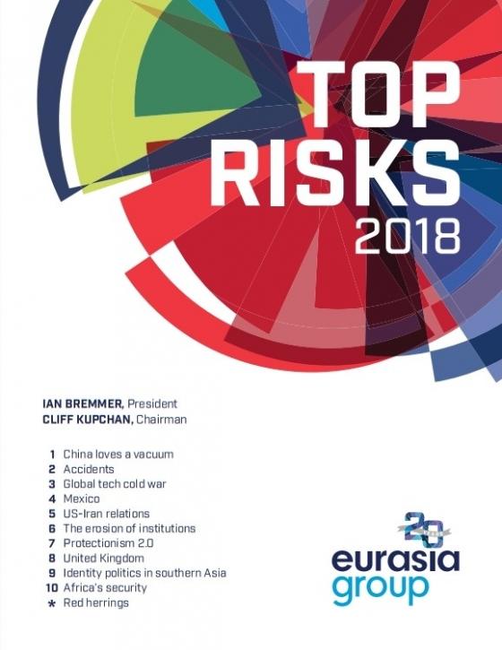 유라시아그룹 '2018 톱 리스크' 보고서 표지/사진=유라시아그룹 웹사이트