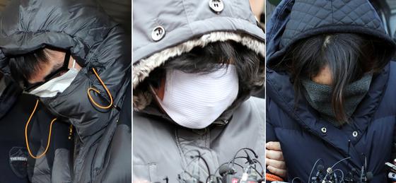 사진 왼쪽부터 고준희양(5)의 시신을 유기한 혐의로 구속된 친부 고모씨(36·구속), 내연녀 어머니 김모씨(61·구속), 내연녀 이모씨(35·구속) /사진제공=뉴스1