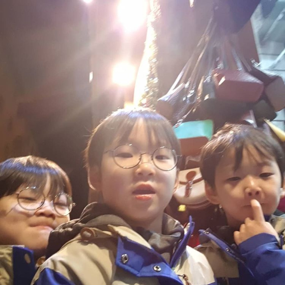만세, 대한, 민국(왼쪽부터)/사진=송일국 인스타그램