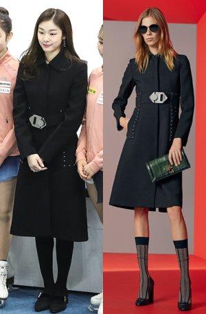 김연아, 블랙 롱코트 패션…