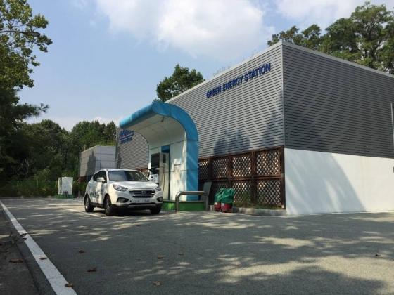 서울 양재동 소재 현대자동차 수소 충전소 전경/사진=효성