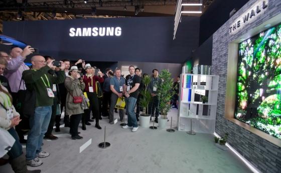 삼성전자가 공개한 세계 최초 마이크로LED 기술 기반의 모듈러 TV '더월'. /사진제공=삼성전자