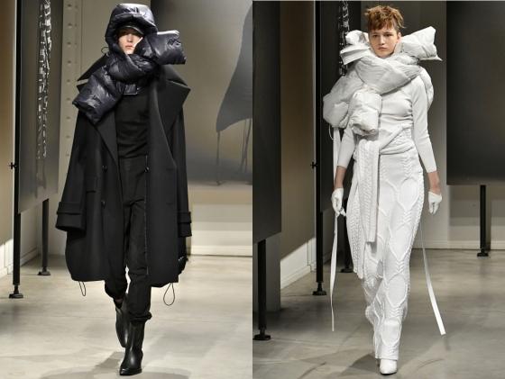 2018 FW 파리컬렉션에 참가한 준지가 지난<br />  19일 'Lapped'(겹쳐진)를 주제로 한 가을·겨울 상품을 선보였다./사진제공=준지