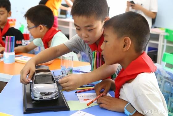 현대차그룹이 중국에서 진행 중인 부모가 외지로 나가 사회적 관심이 필요한 농촌 유수(留守) 아동 보호활동./사진제공=현대차그룹
