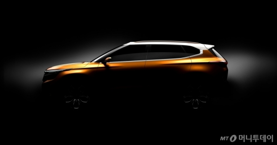 미래형 SUV(다목적스포츠차량) 콘셉트카 'SP'의 측면 티저 이미지/사진제공=기아차