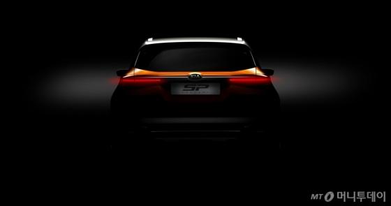 미래형 SUV(다목적스포츠차량) 콘셉트카 'SP'의 후면 티저 이미지/사진제공=기아차 /사진제공=기아차